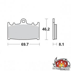 REMBLOKKEN MOTOMASTER REMKLAUW SOFT/RACE COMPOUND