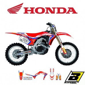 BLACKBIRD REPLICA TEAM STICKERSET + ZADELOVERTREK - HONDA - TEAM HRC 2019
