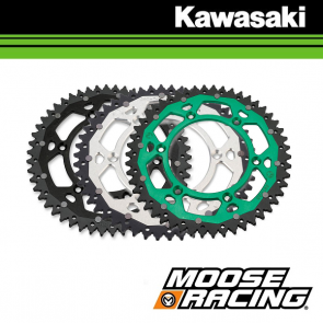 MOOSE RACING DUAL ALUMINIUM ACHTERTANDWIEL - KAWASAKI
