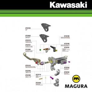 MAGURA 167 HYMEC LOSSE COMPONENTEN - KAWASAKI