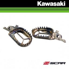 SCAR TITANIUM VOETSTEUNEN - KAWASAKI