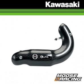 MOOSE RACING 4T CARBON UITLAAT BESCHERMING - KAWASAKI