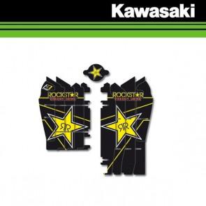 BLACKBIRD ROCKSTAR ENERGY LOUVER STICKERS - KAWASAKI
