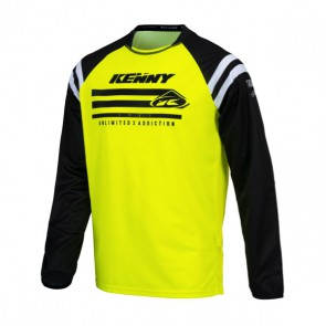 KENNY CROSS SHIRT - TRACK RAW NEON GEEL