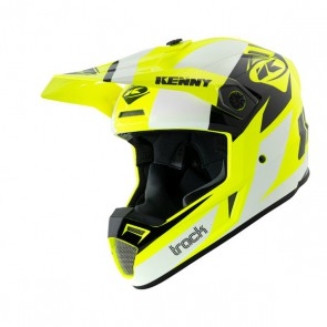 KENNY TRACK  GRAPHIC WIT/ NEON GEEL