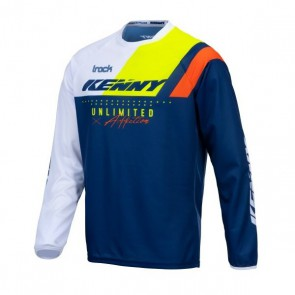 KENNY CROSS SHIRT - TRACK NAVY/ NEON GEEL