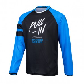PULL IN CROSS SHIRT - ORIGINAL SOLID BLAUW/ ZWART
