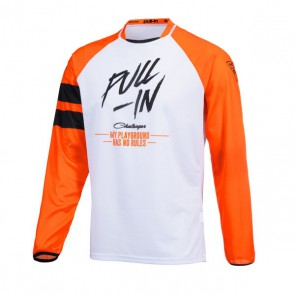 PULL IN CROSS SHIRT - ORIGINAL SOLID ORANJE WIT