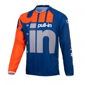 PULL IN CROSS SHIRT - RACE ORANJE/ NAVY