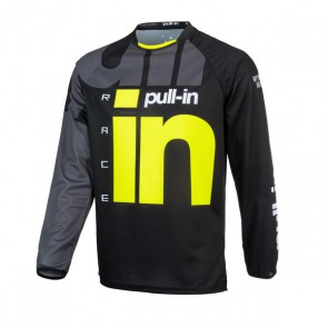 PULL IN CROSS SHIRT - RACE ZWART/ NEON GEEL