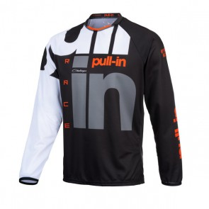 PULL IN CROSS SHIRT - RACE ZWART/ ORANJE
