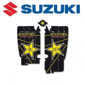 BLACKBIRD ROCKSTAR ENERGY LOUVER STICKERS - SUZUKI