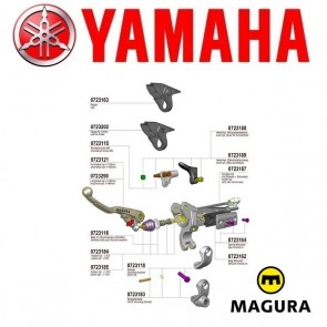 MAGURA 167 HYMEC LOSSE COMPONENTEN - YAMAHA