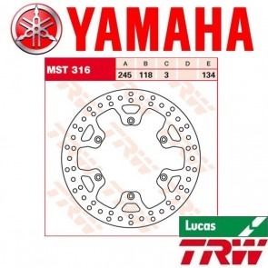 TRW VOOR/ACHTER REMSCHIJF - YAMAHA