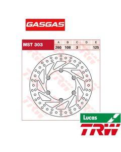 TRW Remschijf Brake disc Gasgas