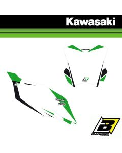 BLACKBIRD DREAM 4 NUMMERPLAAT STICKERS - KAWASAKI