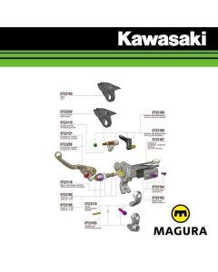 MAGURA 167 HYMEC LOSSE KOPPELING COMPONENTEN - KAWASAKI