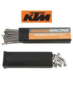 MOOSE RACING RVS SPAAKSET - KTM