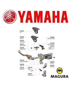 MAGURA 167 HYMEC LOSSE KOPPELING COMPONENTEN - YAMAHA