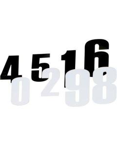 STARTNUMMERS 11,5CM (SET VAN 3)