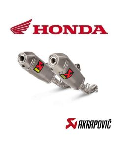 AKRAPOVIC EXHAUST TITANIUM SLIP ON LINE - HONDA