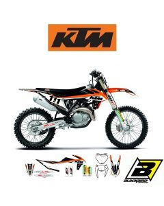 BLACKBIRD REPLICA TEAM STICKERSET + ZADELOVERTREK - KTM - TROPHY 2019
