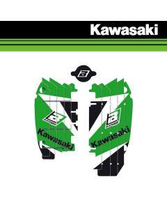 BLACKBIRD DREAM 3 LOUVER STICKERS - KAWASAKI