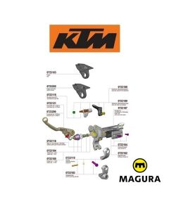 MAGURA 167 HYMEC LOSSE KOPPELING COMPONENTEN - KTM