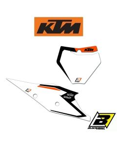 BLACKBIRD DREAM 4 NUMMERPLAAT STICKERS - KTM