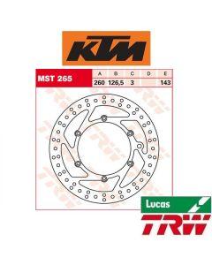 TRW REMSCHIJF - VOOR & ACHTER - KTM