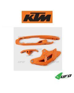 UFO KETTINGGELEIDER & KETTINGBLOK SET - KTM (SX/SXF 16-18)