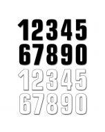 BLACKBIRD STARTNUMMERS 13 x 7CM (SET VAN 3)