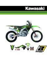 BLACKBIRD REPLICA TEAM STICKERSET + ZADELOVERTREK - KAWASAKI - RACING 2019